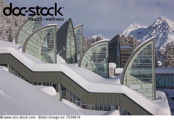 Architektur arosa berg europa gastronomie gesundheit glas for Gastronomie architektur