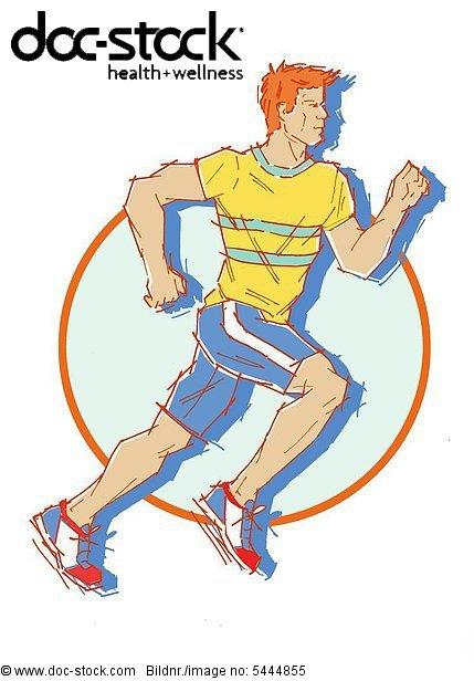 man while jogging