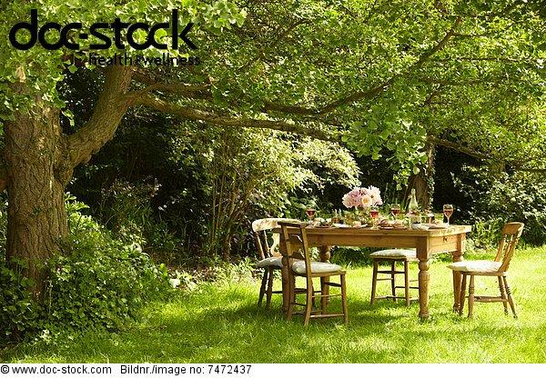 Außenaufnahme ,liegend, liegen, liegt, liegendes, liegender, liegende, daliegen ,Gericht, Mahlzeit ,Tisch ,freie Natur
