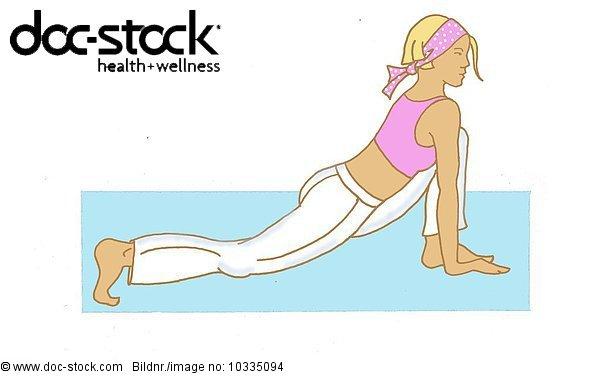 woman with the Yoga sun prayer