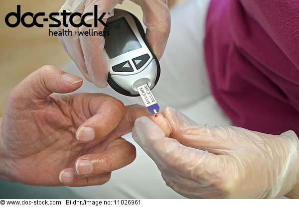 Glucose meter in nursing home