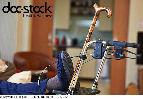 Walking frame in nursing home
