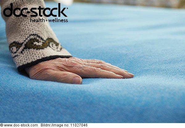 Senior in hospice